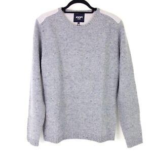 Joop Men's Pullover Sweater Model Fynn M Grey Pure Wool Warm Knit Np 179 New
