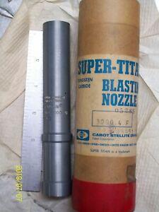 """6"""" 3000-4F TUNGSTEN CARBIDE 1/4"""" BORE SANDBLAST SHOTBLAST BLASTING NOZZLE"""