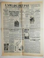 N534 La Une Du Journal L'ami du peuple 15 juin 1936 combats soviéts à française