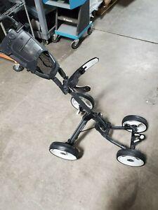 CaddyTek 4 wheel push golf cart Cyber Monday cup holder/ umbrella holder