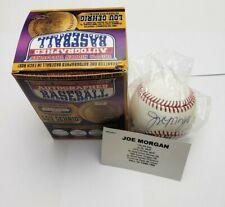 Joe Morgan Autographed Baseball Tristar Hidden Treasures Series