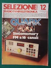 SELEZIONE DI TECNICA RADIO TV HI FI E ELETTRONICA ANNO 1980