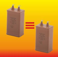 0.5 uF 1500 V Matched Pair Russian Paper In Oil (Pio) Audio Capacitors Kbg-Mn