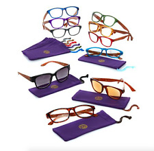 Joy Mangano Shades Readers Glasses with Wood Grain Look Choose Color & Power