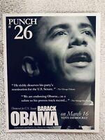 Original Official Barack Obama Senate Campaign Primary 2004 Handbill Union Made
