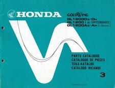 1986 Honda Gl1200 original factory Parts Manual English + other languages -Used
