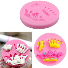 1pc Crown Fondant Chocolate Sugarcraft Cake Decorating Silicone Mold Mould Tools