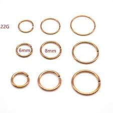 22g Annealed Rose Gold Steel Seamless Nose Hoop Tragus Segment Look Ear Ring