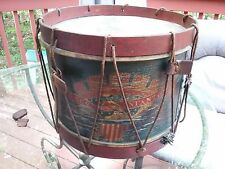Original Civil war Infantry drum field gear painted Eagle on side