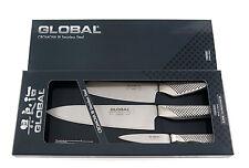 GLOBAL Kochmesser  3er Set - 20cm/14cm/9cm Klinge in Geschenkbox G-2538