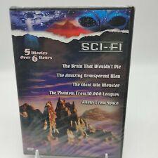 Great Sci-Fi Classics Vol. 2 DVD, 2003 5 Movies Over 6 Hours 50's CULT CLASSICS