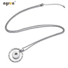 Lanyard Snap Pendant Necklace Multi Styles Fit 18mm Snap Button Snap Jewelry