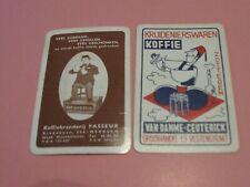 2 losse speelkaarten / 2 single playing cards / 2 cartes  Koffie