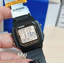 Authentic Casio W800HG-9AV Mens Kids Black Resin 100M Snooze Alarm Digital Watch