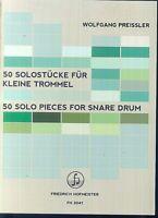 Wolfgang Preissler - 50 Solostücke für kleine Trommel