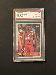1996-97 Topps NBA 50th Allen Iverson PSA 9 MINT Rookie RC Card #171