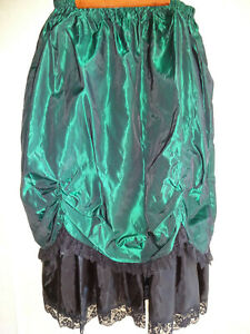 Recollections Victorian Style Skirt 3XL 26-28 Green Taffeta Steampunk Cosplay