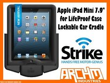 "STRIKE ALPHA APPLE IPAD MINI 7.9"" LOCKABLE CAR CRADLE FOR LIFEPROOF CASE"