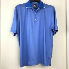 Footjoy Men Polo XXL Blue Polo Shirt Embroidered Logo Short Sleeve