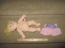 Manhattan Toy Baby Doll Plush Beans Toy Stuffed Pink Purple Blonde Dress Girl