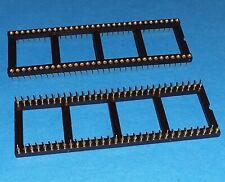 IC Sockel 64 polig DIP64 2,54 Präzisionfassung vergoldet NOS Industrie Qualität