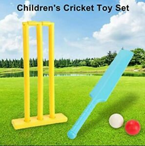 Cricket Set Bat Set and Ball Beach Wicket Stand Kit for Children  Play Toys