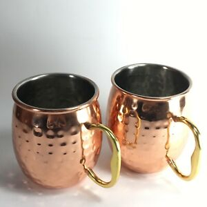 Crofton Chef's Collection MOSCOW MULE Copper  Clad Stainless  Steel 2 Mugs