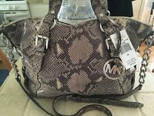 MICHEAL KORS ~ embossed python TRISTAN Leather conv satchel ~  NWT!