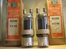 5C110 tube Matched pair Fivre nos nib metal base power amplifier 211 vt4c rs237