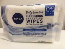 Nivea Daily Essentials Refreshing Cleansing Wipes For Face, Eyes & Lips 25 Wipes