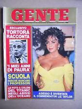 GENTE n°39 1985 Liz Taylor Enzo Tortora Speciale Stefania di Monaco  [D54]