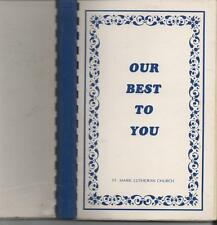 MT.PROSPECT, ILLINOIS church fundraiser 1986 PAPERBACK SPIRAL 450 recipes ILLUS.
