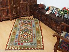 205x103 cm orient Teppich Afghan Turkmen Nomaden Planzenfarbe kelim kilim No:48