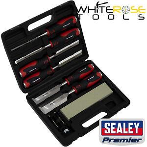 Sealey Premier Hammer-Thru Wood Chisel 8pc Set