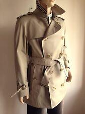 Burberry Para Hombre XL 42-44 doble abotonadura Abrigo Trench Impermeable Chaqueta Vintage