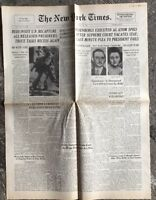 N151 La Une Du Journal The New York Times 20 Juin 1953