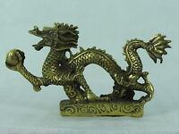 A2244 China Reichtum Feng Shui   Messing Drachen Glück