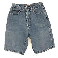 "Appeal Ladies High Waist Jean Shorts Blue Size 9/10 26"" Waist"