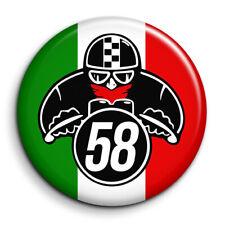 CAFE RACER MOTARD DRAPEAU ITALIE racing course tuning Badge 38mm Button Pin
