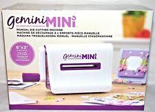 Mini Gemini Press Manual Die Cutting Machine Plate Size 6x3 Crafter's Companion