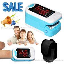 US Seller Finger Pulse Oximeter Blood Oxygen SpO2 PR HR Monitor Meter LED+Pouch