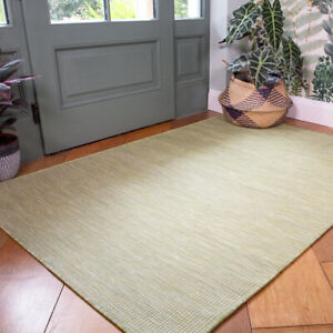 Plain Lime Green Outdoor Rug Plastic Washable Rugs Water Resistant Garden Mats