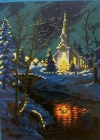 BNIP Christmas Church Counted Cross Stitch Kit 14 ct 26 x 33cm (F)