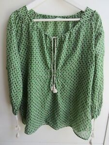 Country Road Trenery Tunic Peasant Top Size XL