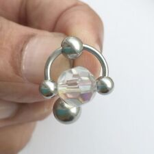 AB Faceted Glass Crystal Ball VCH Piercing Barbell.