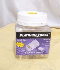 """JAR OF 100 Platinum Tools RJ-45 Cat6 Round Solid Wire P/N: 106188J Max C 0.044"""""""