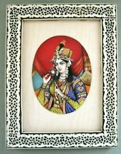 19C Anglo Indian Vizagapatam Miniature Portrait of Mughal Princess Mumatz Mahal