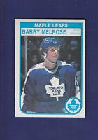 Barry Melrose 1982-83 O-PEE-CHEE OPC Hockey #328 (NM) Toronto Maple Leafs
