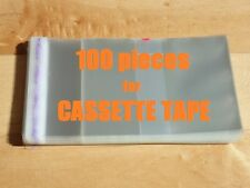 Resealable Outer Plastic Sleeves for CASSETTE TAPES 100