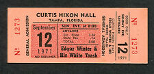 1971 Edgar Winter White Trash Unused Full Concert Ticket Tampa Frankenstein